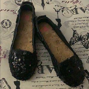 Like New! Black Sequins Girls flats